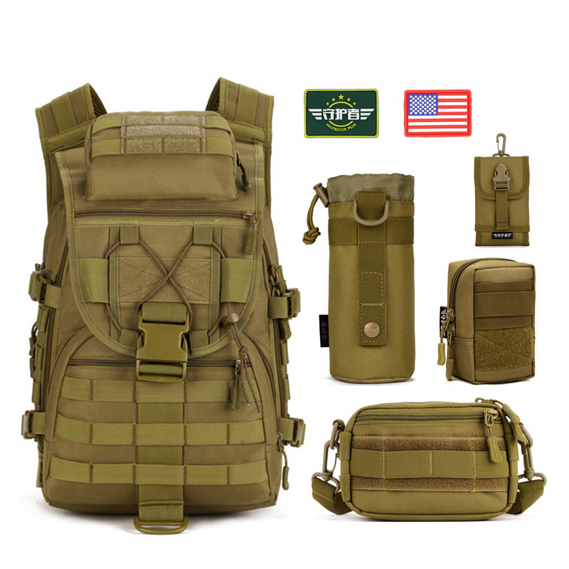 5pcs/set Molle Military Tactical Backpack Rucksack Waterproof nylon Travel Sport Bag Outdoor Camping Hiking Climbing Backpacks