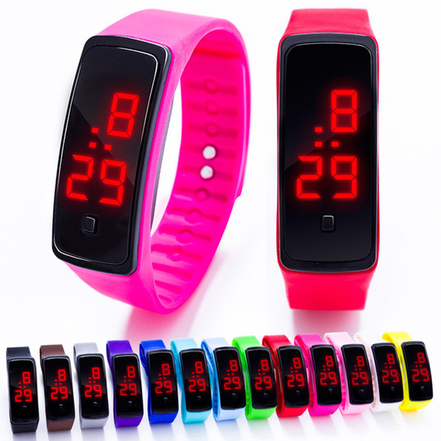 Children Watch Led Sports Kids Watch Men Women Silicone Electronic Digital Clock