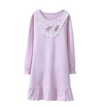 100% cotton good for healthy Nightgowns Children Nightwear Girls Sleepwear 846
