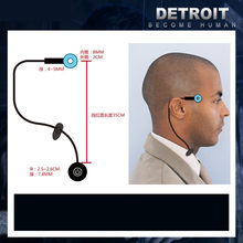 Детройт: стать человеком Косплей Коннор RK800 беспроводной храм светодиодный светильник ПА Кара State Мерцающая лампа кольцо круглая головка св...