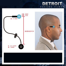 דטרויט: להיות אדם קוספליי קונור RK800 אלחוטי מקדש LED אור קארה מצב נצנץ מנורת טבעת מעגל ראש LED אבזרי