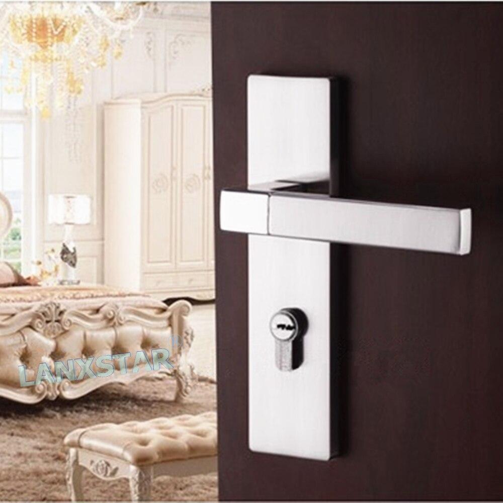 ФОТО European-style Interior Room Door Lock Bedroom Wooden-door Handle Locks Suit Thickness 38mm-50mm Door-locker