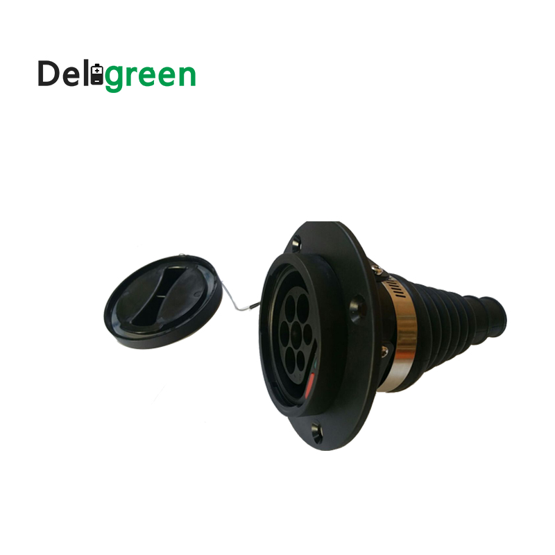 16A EU inlet socket for EV side IEC62196 European standard inlet Three phase IEC connector without