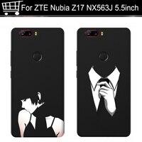 Cas de téléphone Pour ZTE Nubia Z17 5.5 Cas Original de Bande Dessinée Imprimer Silicone dur de Couverture Arrière Pour ZTE Nubia Z17 Z 17 nx563j Cas Couverture