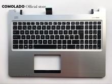 цена на ND Nordic Keyboard for ASUS K56 K56C K56CA K56CM Top Cover Upper Case Palmrest keyboard ND Layout