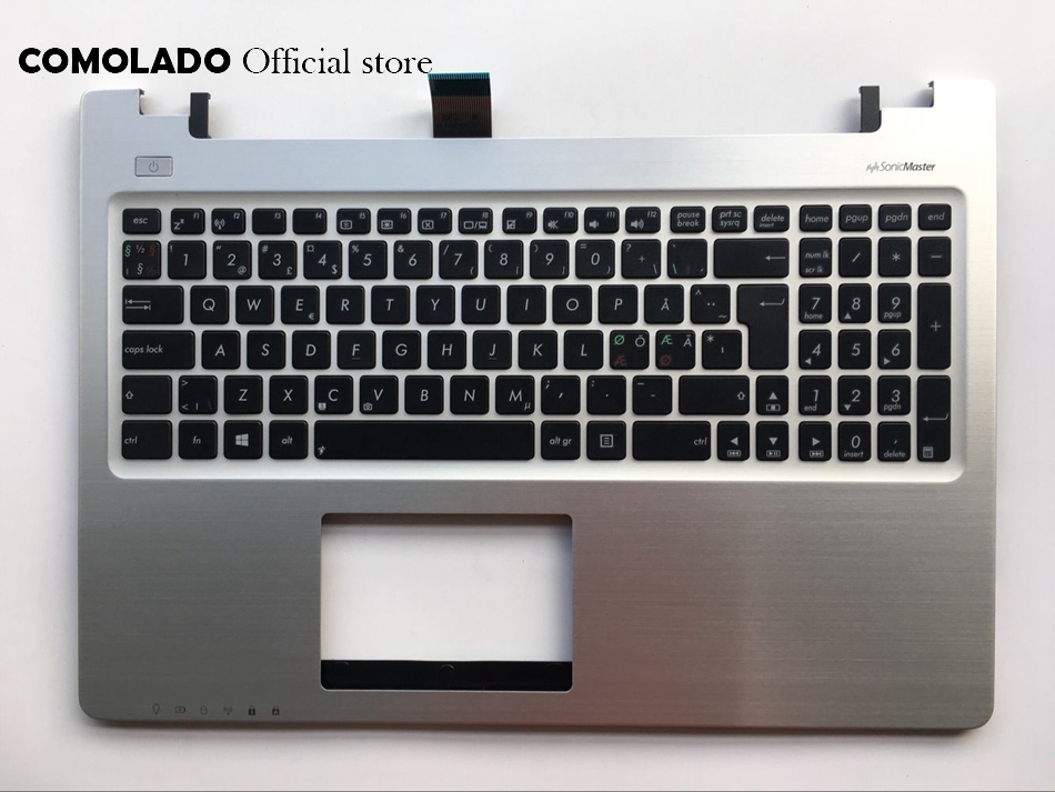ND Nordic Keyboard for ASUS K56 K56C K56CA K56CM Top Cover Upper Case Palmrest keyboard ND Layout