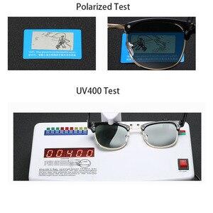 Image 2 - Новинка 2019, Классические поляризованные солнцезащитные очки для мужчин и женщин, Ретро стиль, фирменный дизайн, солнцезащитные очки для женщин и мужчин, модные зеркальные солнцезащитные очки