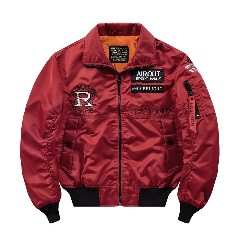 High Street hip hop pilot jacke männer lose stickerei air Ma 1 flight kurze bomber jacke männer windjacke Herbst männer mantel der 4XL - 5