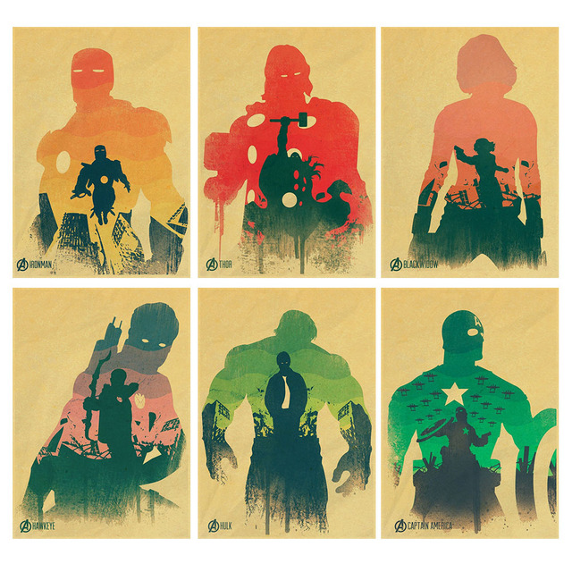 Kustom Retro Dinding Stiker Dinding Decals Dinding Poster Iron Man