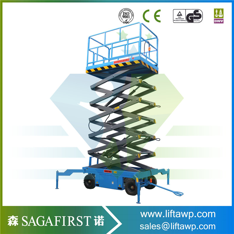 10m Mobile Electric Lift Table Hydraulic Scissor Lift With CE