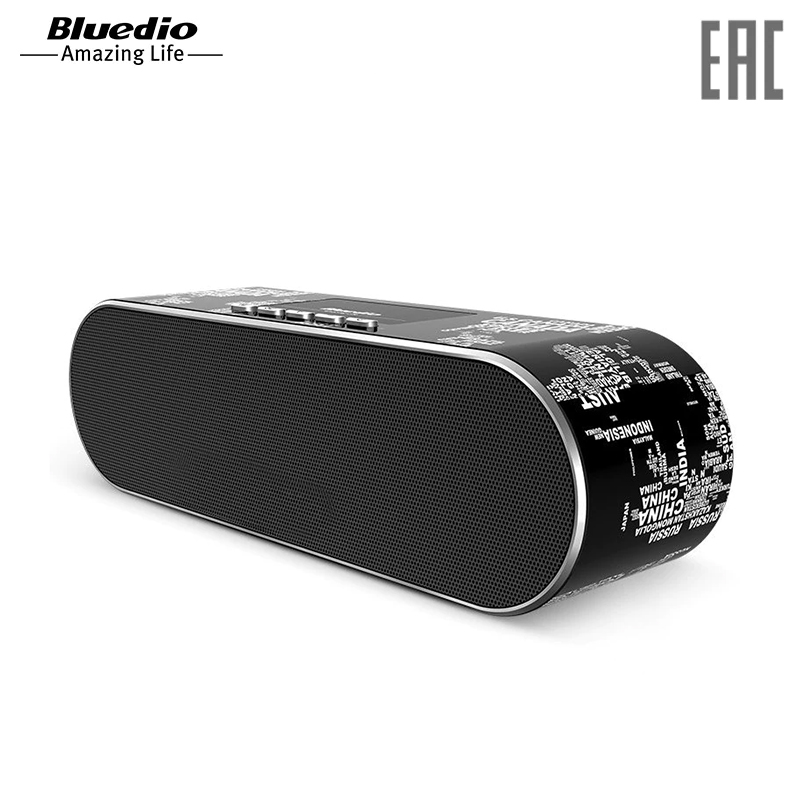 Speakers Bluedio AS-BT Black wireless bluetooth bluetooth control music playing speakers e27 led bulbs colors change dimmable wireless smart lamp lighting ios android app