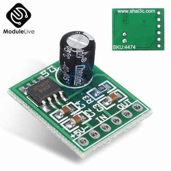 Mini XH-M125 XPT8871 Mono Stereo Lithium Battery Power Amplifier Board 6W Sing Machine Module 3v 5v 5W Audio Output Input image