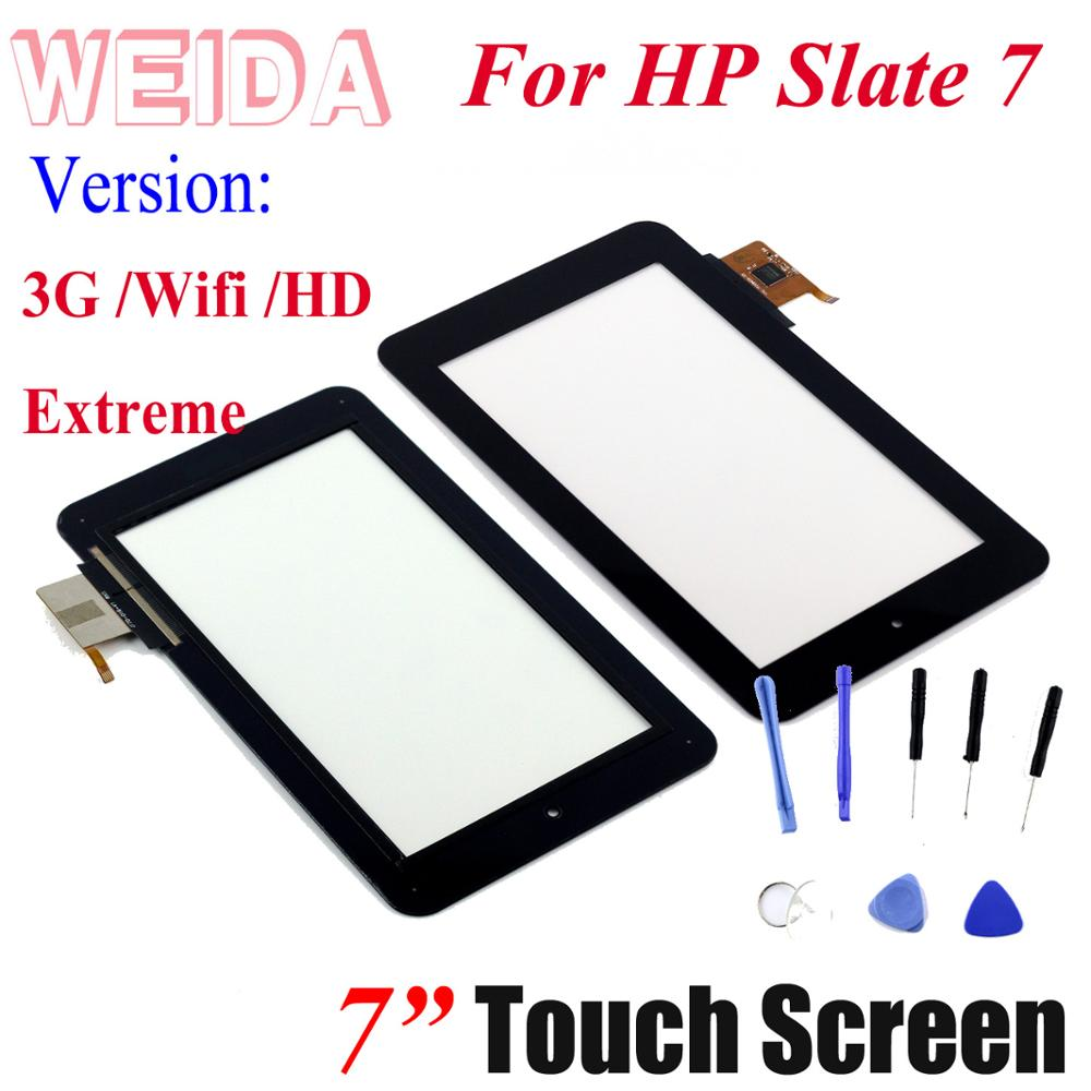 WEIDA For 7 Inch Touch Screen Digitizer Panel For HP Slate 7  2800 2801 4601 3G/WIFI/Slate7 HD/SLATE 7 Extreme Free Tools