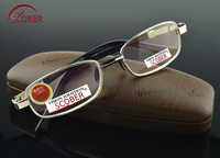 SCOBER = cristal Natural de múltiples capas de lente de aleación de níquel de lujo hombres mujeres gafas de lectura + 0,75 + 1 + 1,25 + 1,5 + 1,75 a + 4