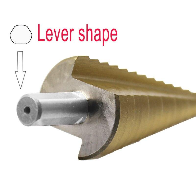 4-32mm la forme de pagode HSS Triangle tige pagode métal acier étape foret trou Cutter outil de coupe un seul paquet