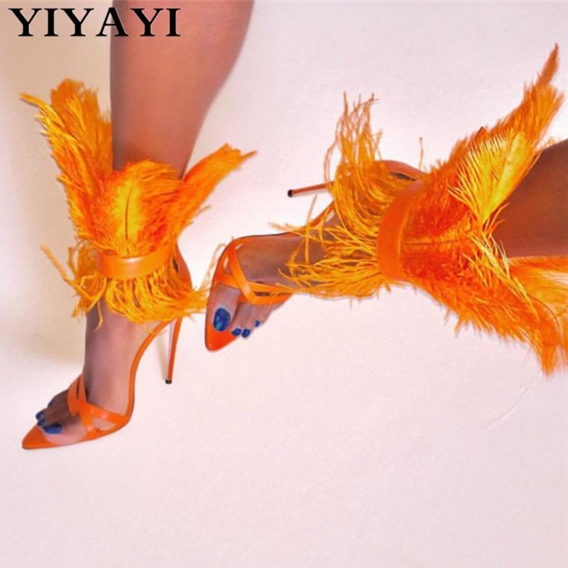 Summer Shoes Sandalias Flip-Flops Party High-Heels Black Peep-Toe Women White Thin T-Show