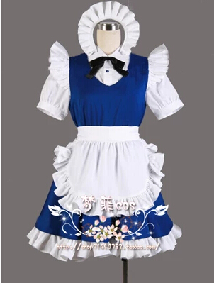 Touhou Project Sakuya Izayoi Cosplay Costume,Acceptable Order,Performance  Clothes