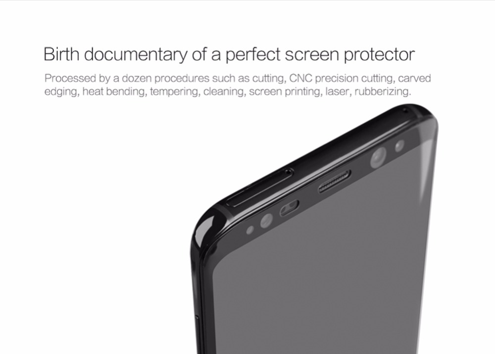 Image 5 - Nillkin Tempered Glass for Smasung Galaxy S8 Plus Screen Protector for Galaxy S8 Protective Film Full Coverage 3D Curved CP+ Max-in Phone Screen Protectors from Cellphones & Telecommunications