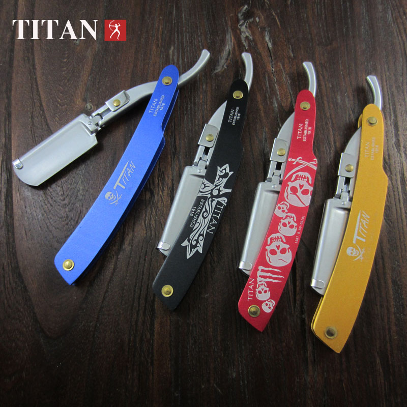 Titan disposable  metal handle safety razor with blade free shipping  in gift box