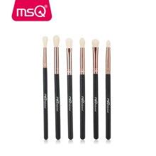 MSQ тени для век Кисточки комплект 6 шт. Макияж Расчёски для волос для глаз Подводка для глаз смесь Косметика Мягкие Синтетические волосы составляют Кисточки без кожи больно