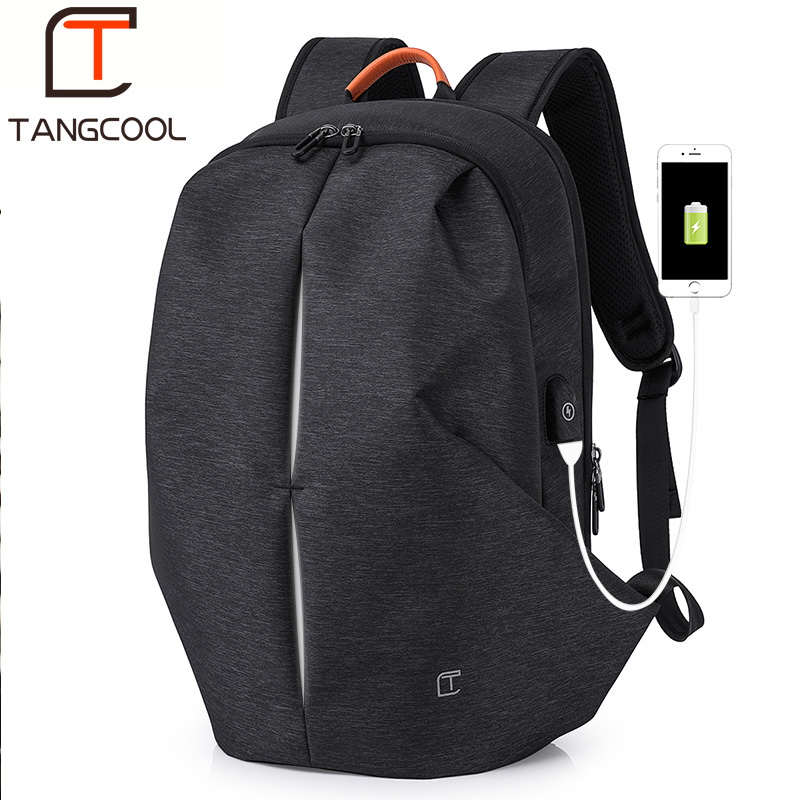 Tangcool Multifunction USB charging Men 17inch Laptop Backpacks For Teenager Mochila Leisure Travel Fashion Men backpack цена 2017