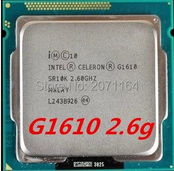 Бесплатная доставка для Intel G1610 2.6 Г 22-нм интегрированной графикой 1155 игла официальная версия настольный компьютер CPU