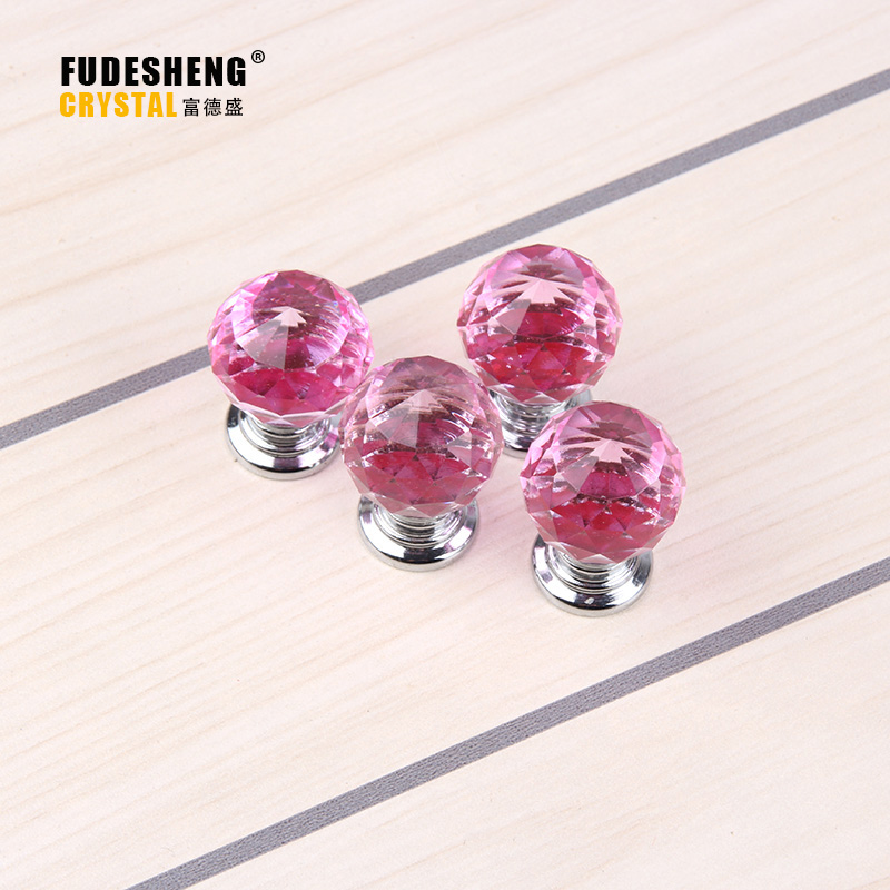10 PCS Kitchen Furniture Pull For Wardrobe Closet Cupdoard Cabinet Knobs And Handles Pink Crystal Glass Drawer Knobs SJ-200 high grade crystal handles wardrobe door cabinet knobs furniture closet drawer hardware small modern kitchen pull and handle