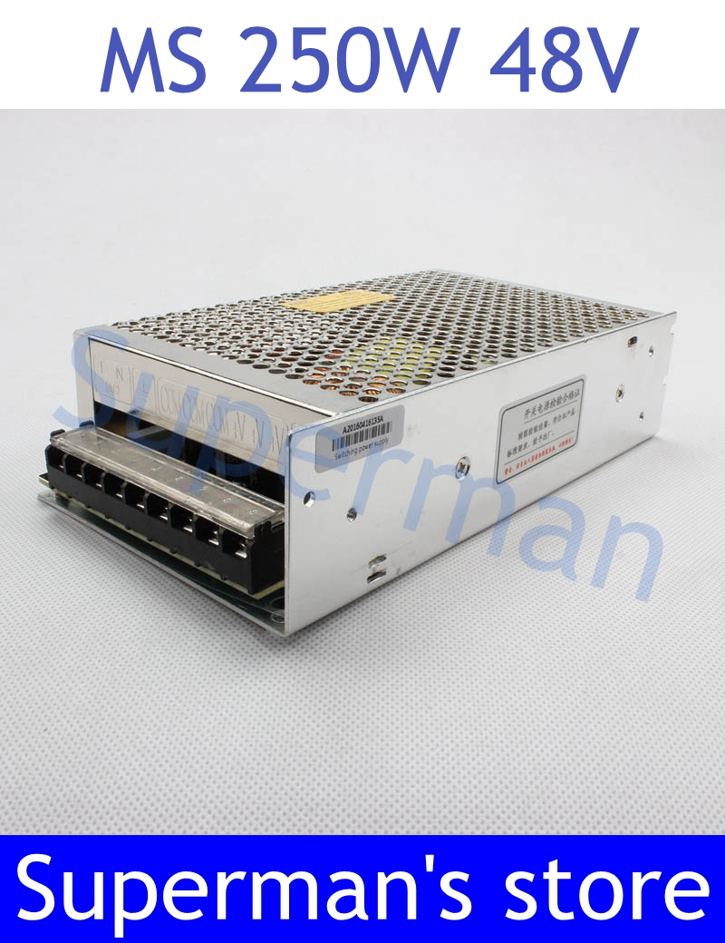 power supply 48v 250w 48V 5.2A power suply 250w 48v mini size power supply unit led  ac dc converter ms-250-48 retro loft style industrial vintage wall lamp edison wall sconce 2 lights water pipe wall light fixtures home lighting e27 bulb