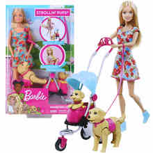 Original Barbie Reborn Dolls Babies  Dog Pet Set Baby Hatching Boneca Girls Toys for Kids Children Gift