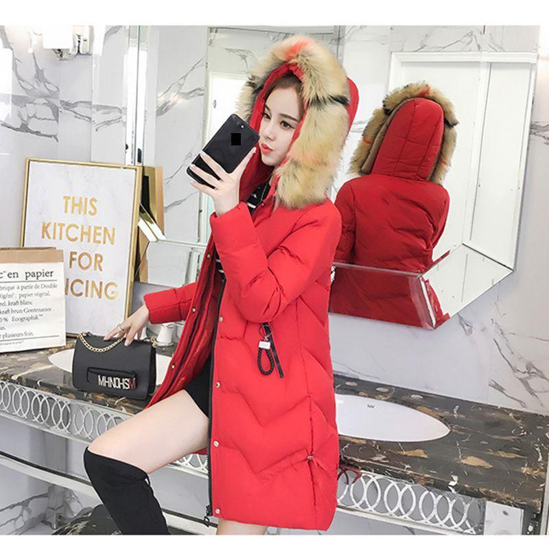 Capuchon 3xl red Style 2018 Chaud À Rice Veste M Nouvelle long Fourrure Hiver Manteau Nzyd1232 Moyen Femmes Lâche black Col Occasionnel De Downcotton Fashion Épaissir xHwSprHZq