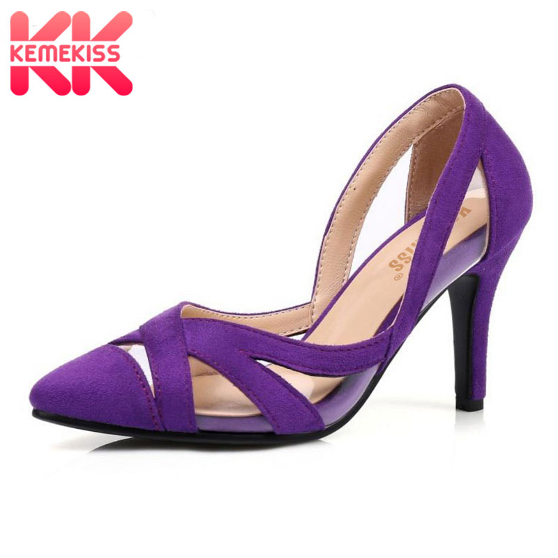 KemeKiss 4 Colors Size 32-43 Sexy Lady High Heel Shoes Women Pointed Toe Patchwork Thin Heels Pumps Party Club Women FootwearsKemeKiss 4 Colors Size 32-43 Sexy Lady High Heel Shoes Women Pointed Toe Patchwork Thin Heels Pumps Party Club Women Footwears
