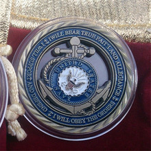 100PCS/LOT Free Shipping,US Military All Branches Proud Family & Navy Core Values Challenge Coin