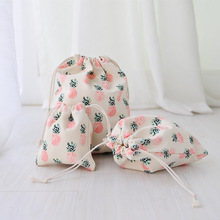 Handmade Cotton Linen pineapple Drawstring Bag Travel Storage Package Bags Shopping Bag Coin Purse Christmas Gift pouch Hot