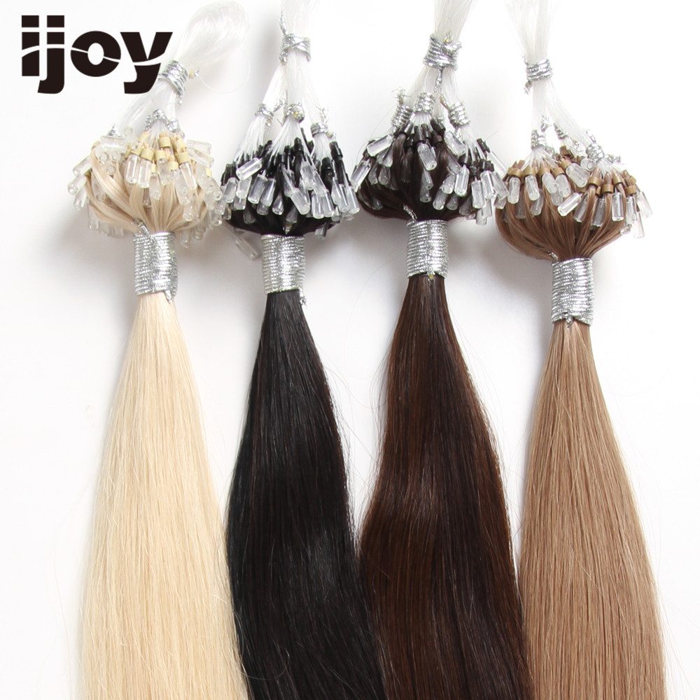 IJOY Boucle Micro Anneau Remy Blond Extensions de Cheveux Humains - Cheveux humains (blanc) - Photo 5