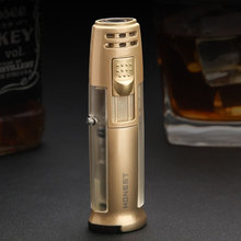 Pen Torch Lighter Compact Jet Turbo Pipe Lighter Windproof Metal Cigar Spray Gun Lighter 1300 C Butane Fixed Fire No Gas