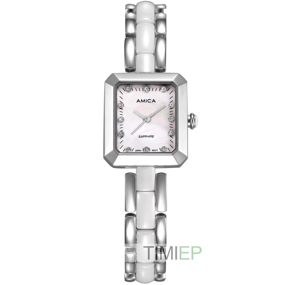 ФОТО Amica Women's D-Ceramics Quartz Sapphire Stainless Steel Wrist Watches A-4-5