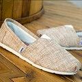 Alpargatas De Lona Planos de los hombres 2017 de Moda de Verano Hombres Zapatos Casuales Resbalón en Holgazanes Respirables Pisos Zapato cd28t