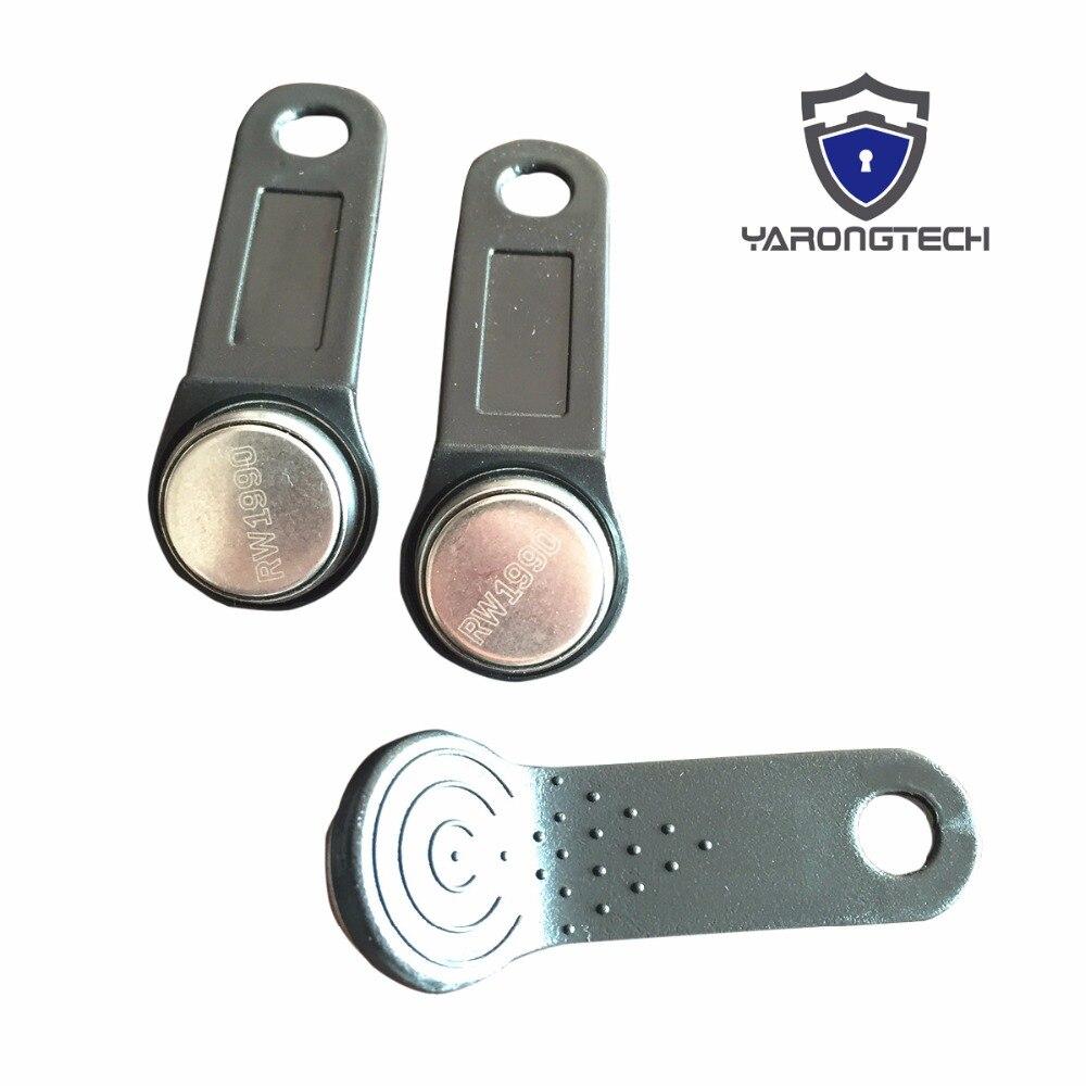 RW1990 černý čitelný a zapisovatelný dotekový paměťový klíč ibutton kompatibilní s DS1990A-F5 -10ks