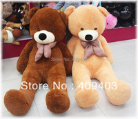 FULL COTTON Plush Big Teddy Bear Toys 80cm White/Dark brown/Light Brown 80cm/100cm/120cm/160cm/180cm/200cm lovers gift