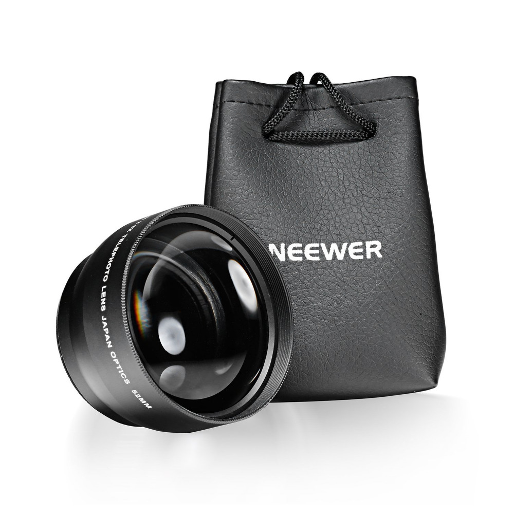 Neewer 5258mm 22x Professional Telephoto Lens For Nikon Canon And