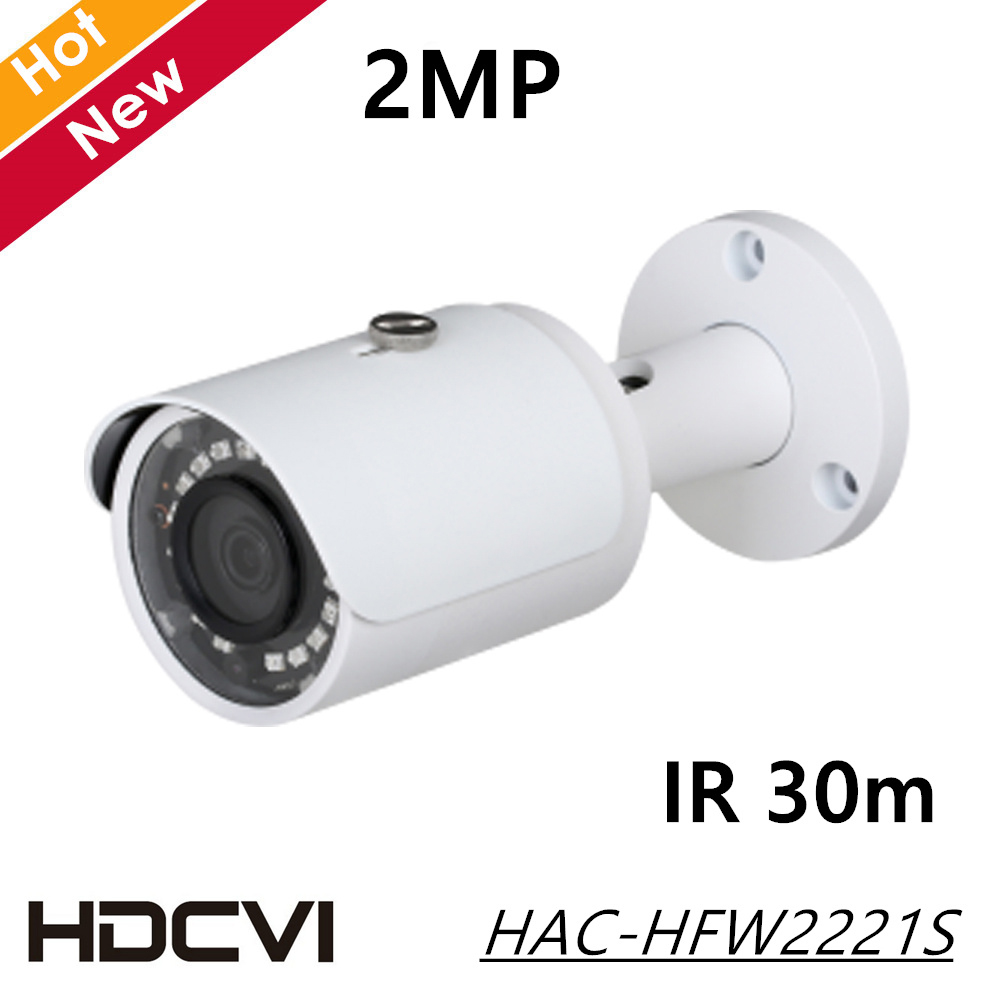 DH Security Camera CCTV 2MP FULL HD WDR HDCVI IR Bullet Camera IP67 Without Logo HAC-HFW2221S free shipping dahua 2mp 1080p water proof wdr hdcvi ir bullet camera without logo hac hfw2221d