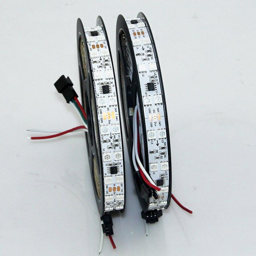 2018 nouveau Super lumineux 5 M WS2811 2811 ic 120 LED S/96 LED s/m 5050 SMD RGB LED bande adressable numérique IP20 Double rangée LED bande