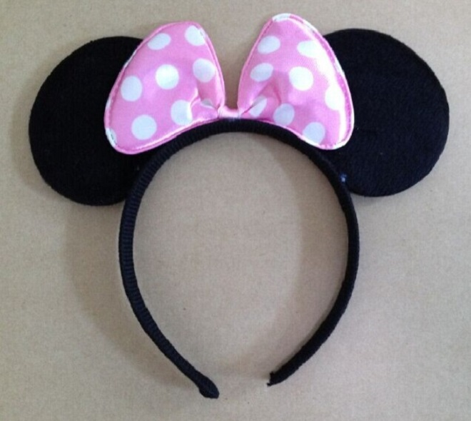 children cosplay minnie mouse ear headwear  kids Hair accessories girl boy headband kids birthday party supplies decorations