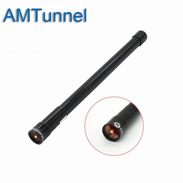 VHF UHF Dual Band אנטנה 144 430 MHz סיבי זכוכית נייד אווירי אנטנת פיברגלס NL-350 שחור עבור רכב נייד רדיו משדר