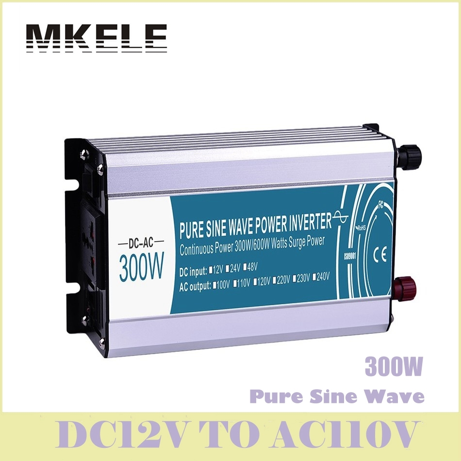 Inverter Voltage 300W 12v Dc To 110v Ac Pure Sine Wave Converter Solar Electric Power Inversor MKP300-121 China ultra china manufacture sell 300w 12v to 115v car use inverter maili brand one year warranty