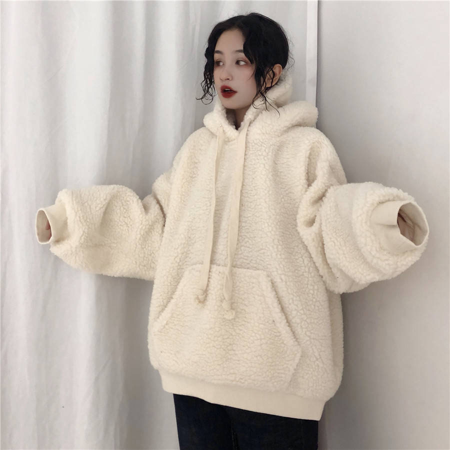 Cool Harajuku Warm Fashion 2019 Female Sweatshirt Casual Wtite Long Sleeves Hoodies Spring Winter Women Hoodie Streetwear Girls