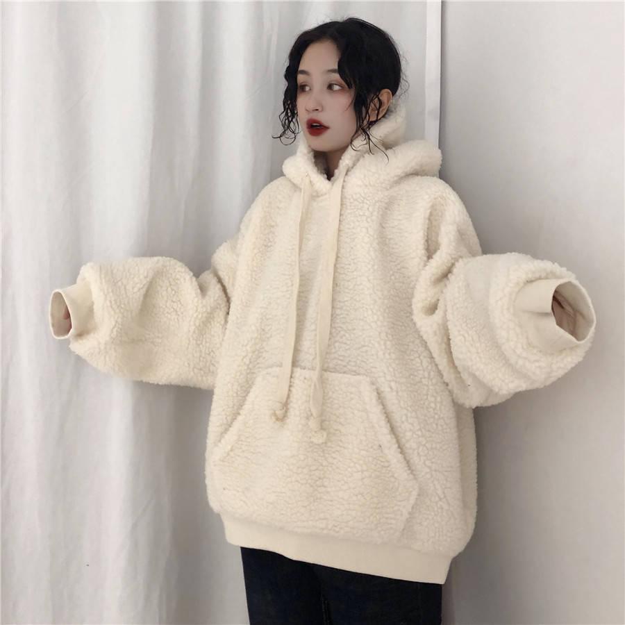 Cool Harajuku Warm Fashion 2019 Female Sweatshirt Casual Wtite Long Sleeves Hoodies Spring Winter Women Hoodie Streetwear Girls