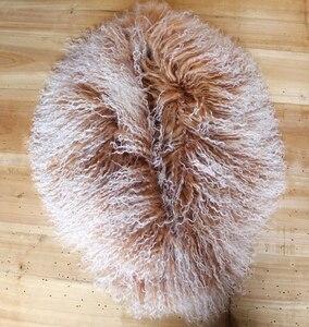 Image 3 - Col en fourrure mongole, écharpe, châle, écharpe, châle, en véritable laine mongole, XX Large, en solde