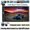 7 Дюймов 2 Автомобиля Гама Аудио MP5 Mp4-плеер Универсального Bluetooth Радио USB/TF/FM Aux Вход управления рулевого колеса с Задней камера