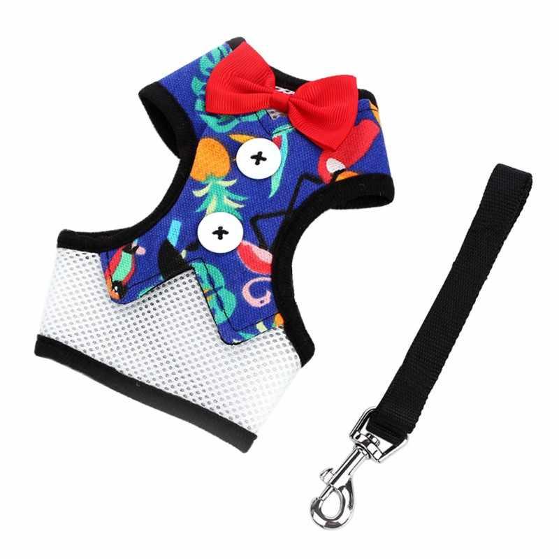Ремни для животных поводок нагрудный ремень воротник растягивающаяся веревка для собак, дышащий собака мульти-Стиль платье с бантом жилетка, одежда для домашних животных